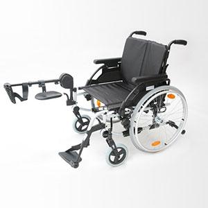 Elevating leg-rest wheelchair (both legs)