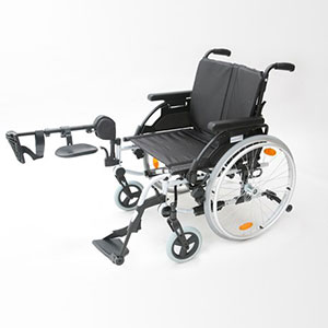 Elevating leg-rest wheelchair (right leg)