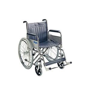 Wide seat folding wheelchair